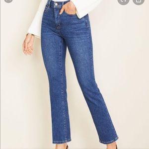 "Ann Taylor Curvy 9"" Rise Straight Leg Jeans Size 8"